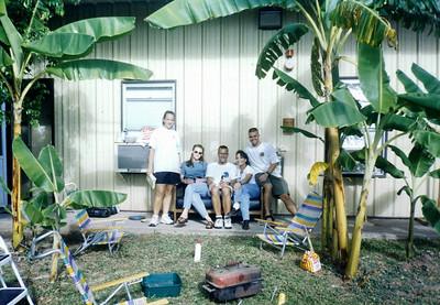 Honduran Barbeque 1999 (Shelly, Stacie, Barry, Tammy, & Dave) JTF Bravo, Soto Cano AF Base; Part of the MEDEL after Hurricane Mitch