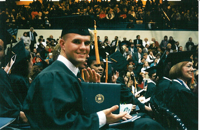Graudating from Kent State, 1996