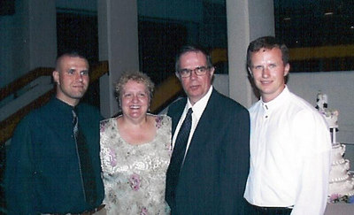 At cousin Jim's wedding, 2000 or 2001