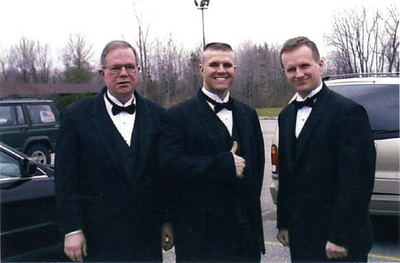 Dad, Dave & Chris @ his 1st wedding