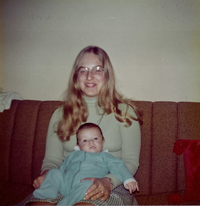 Dave @ 4 months with Aunt Shelly