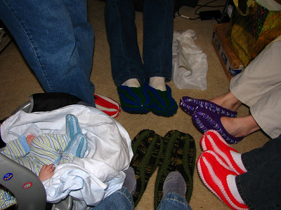 Hand made slippers for everyone - even Zach