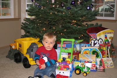 Santa was good to Zach