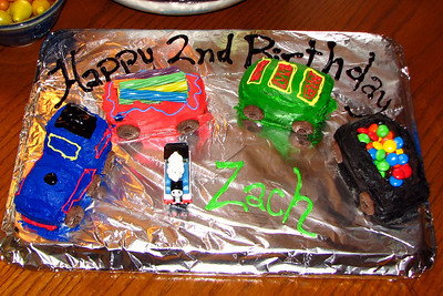 Zach's Train cake. Not exactly Thomas but it looks and tasted good.  Thanks Heidi!