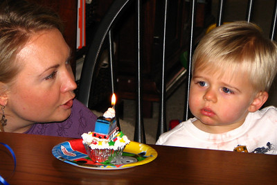 Zach looked a bit sad when we sang Happy Birthday - probably just realizing that life just gets harder with every year that goes by.