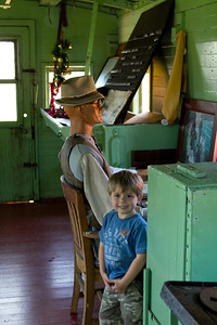 inside the caboose