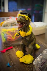 Our playdoh dinosaur