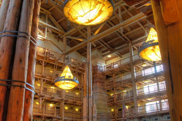 The Disney Wilderness Lodge inspired by NP lodges.