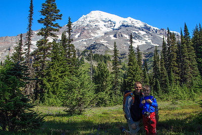 Zach and I hiked to Van Trump Park, Mt Rainier