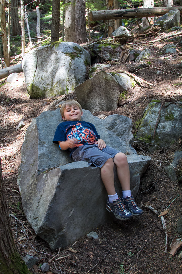 Resting in a rock chair