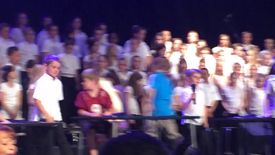 Zach's end of year concert and his big singing part