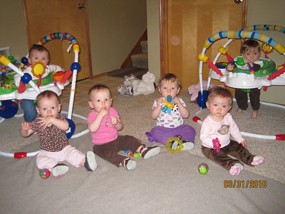The six babies (Brenda named their kids ABC) Brelynn, Stella, Fiona, Daphne, Avery, Camille