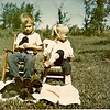 Mark and Deb, Summer 1973<br /> Little ones, kittens and kids of the 2 legged kind.