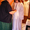 Trying the Coat on Over the Wedding Dress.<br /> Kathy was seeing what changes needed to be made.