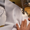 Kathy Getting On With Sewing Up the Sparkly Coat.<br /> Slowly but surely it is all coming together.