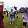 The Queen speaks with sisters Katlyn Merrill, 5 (right), and Elizabeth Merrill, 7, of Lancaster at Robin Hoods Faire in Lancaster on Saturday.  SENTINEL & ENTERPRISE JEFF PORTER