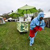 I Be A Dragon pulls an ice cream cart at Robin Hoods Faire in Lancaster on Saturday.  SENTINEL & ENTERPRISE JEFF PORTER