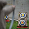 Patrons have a go at archery at Robin Hoods Faire in Lancaster on Saturday.  SENTINEL & ENTERPRISE JEFF PORTER