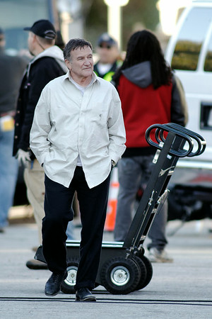 Robin Williams Filming In LA