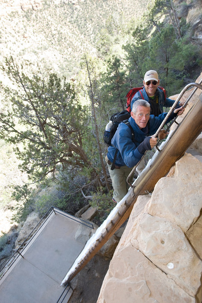 23-foot tall ladder up to Balcony House in Mesa Verde National Park