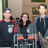 Tustin High's robot and a few team members