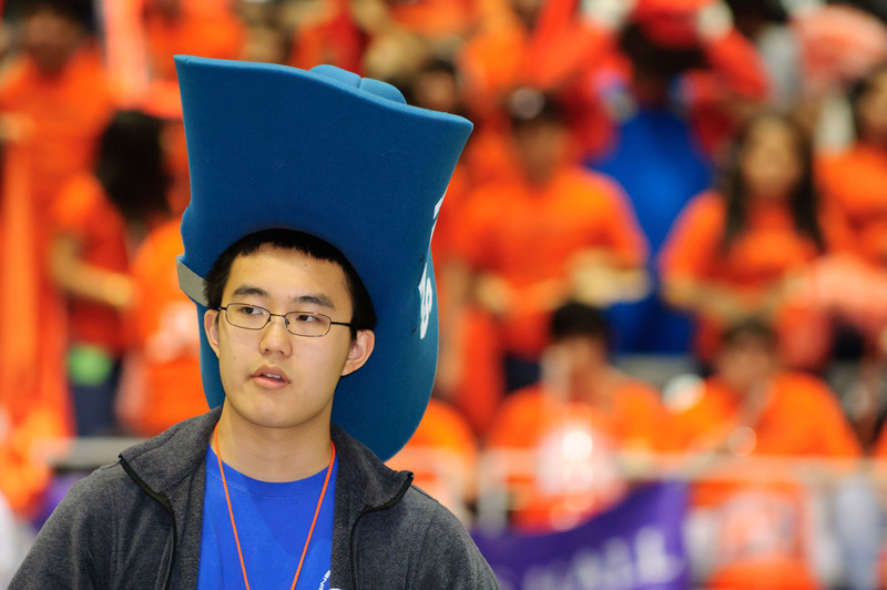 One of the drivers at the recent Texas/New Mexico regional BEST Robotics Competition held in Garland, near Dallas.