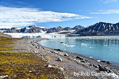 Fortend Juliebreen, Svalbard Archipelago, Arctic Ocean.