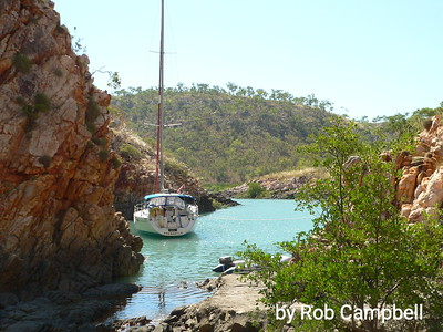 Jacqui Mac moored in Crocodile Creek.