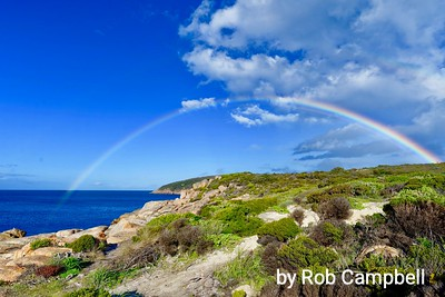 Rainbow over Cheynes Beach.