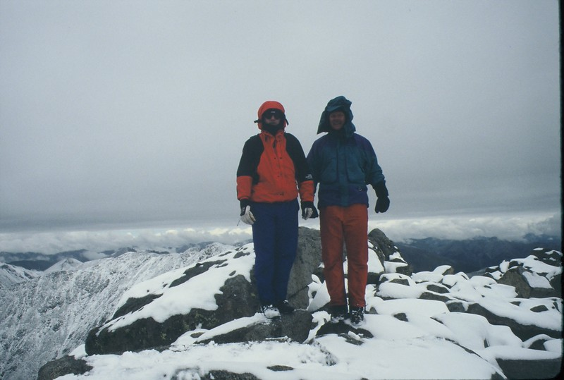 On the summit of either Tabuache or Shavano Peak.