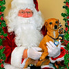 Lucy and Santa 2010
