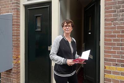 Nederland, Amsterdam, 10 mei 2017, Mary Klomp in de van Beningenstraat, foto: Katrien Mulder