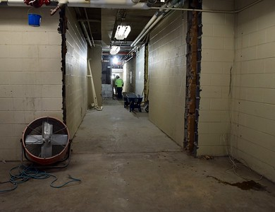 A main hallway for the athletic department under construction at Rochester High School at 180 Livernois Road, Rochester, on Wednesday, Oct. 31.
