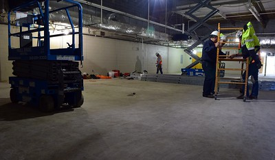 The room where a new lobby for the athletic field and pool will be under construction at Rochester High School at 180 Livernois Road, Rochester, on Wednesday, Oct. 31.