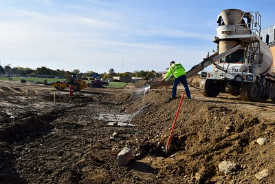 Construction at Rochester High School at 180 Livernois Road, Rochester, on Wednesday, Oct. 31.