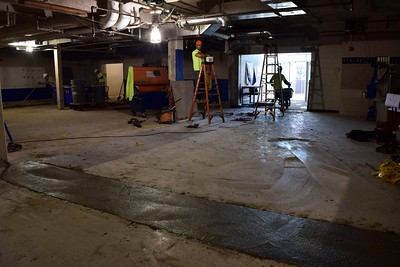 The old weightlifting room under construction at Rochester High School at 180 Livernois Road, Rochester, on Wednesday, Oct. 31.