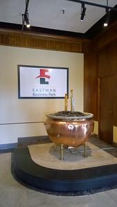 An original copper mixing kettle: now sculpture!