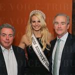 Robert Astorino, Miss Kentucky USA Katie George and John Cunningham.