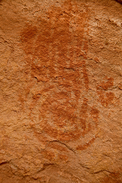 Spiral Hand Pictograph, Cold Spring Ruin