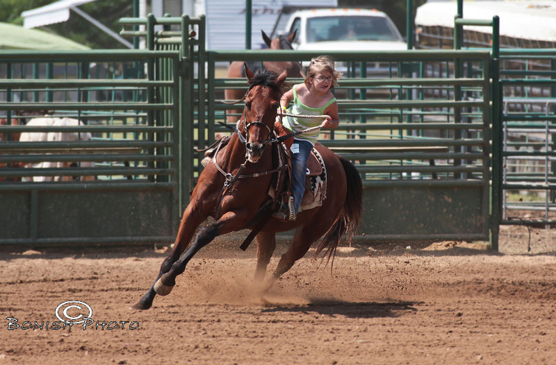 Cutest Barrel Racer Ever - Rock Bottom - Photo by Pat Bonish