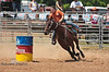 Determination while Barrel Racing - Rock Bottom - Photo by Pat Bonish
