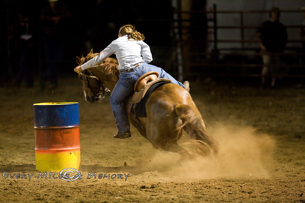 Rock Bottom Chuck Wagon Races - Friday - Barrel Racing - 2009 - Arkansas