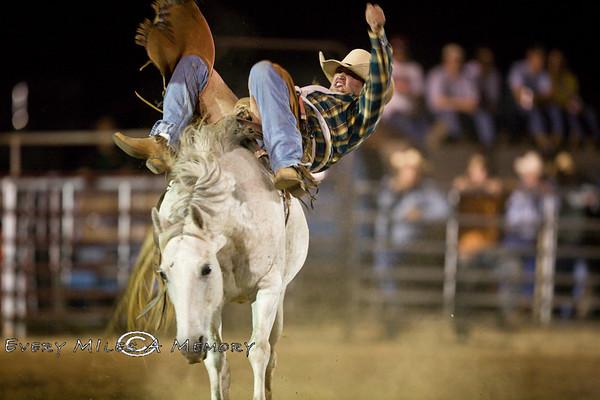 Rock Bottom Chuck Wagon Races 2009 Bronc Riding - Friday - Arkansas