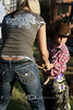 Gettin' the little Cowboy Ready for Mutton Bustin' - Rock Bottom Ranch Rodeo