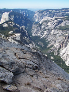 Looking down to Yosemite Valley.