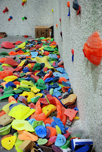 Pile of Hold for City Rock Climbing Gym
