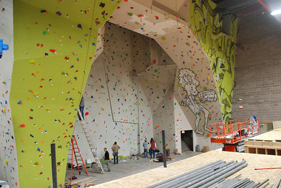 Main Wall Arch at City Rock Climbing Gym