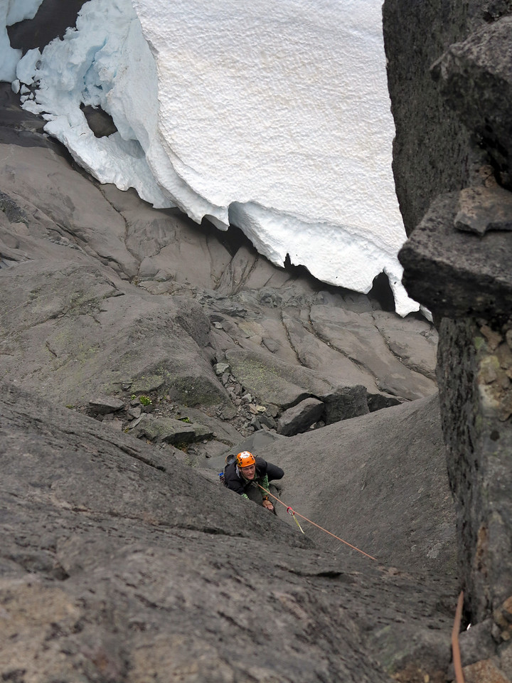 Pete Harris on the second ascent of SHP