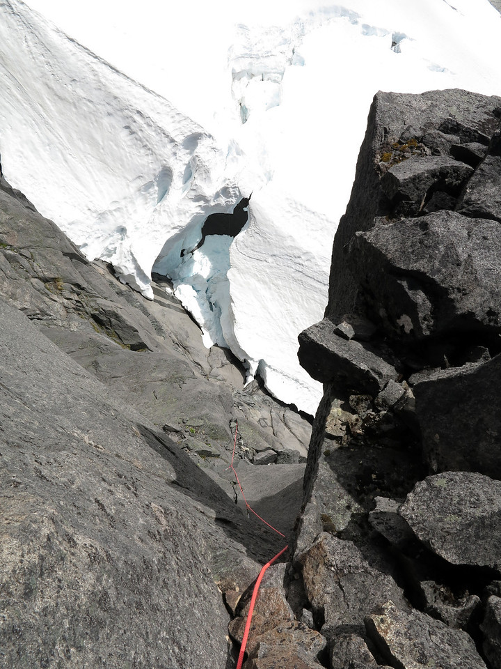 Peter Rampage following the first ascent of SHP