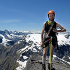 Me on the East Ridge (photo Shelagh Ferguson)